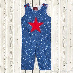 Other - Lil Cactus Patriotic Star Overalls Jumpsuit Romper